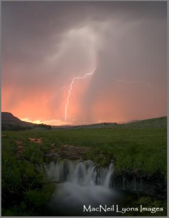 Lightning Waterfall - Copyright MacNeil Lyons Images