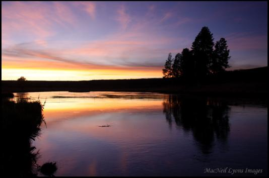 Fire in the Sky over the Firehole - Copyright MacNeil Lyons Images