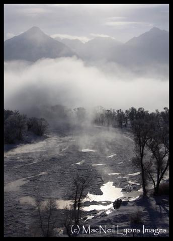 Yellowstone River Flow at MINUS 22 degrees (c) MacNeil Lyons Images